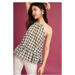 NWOT Anthropologie Cloth & Stone Gingham Tank